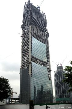 Pearl River Tower in Guangzhou by SOM (built in 2012, 309.5 m & 71 story)