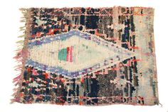Vintage Boucherouite Rag Rug CPT0347 by ProjectVintage101 on Etsy