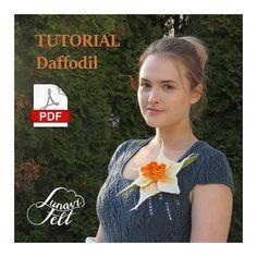 Wet Felting Tutorial Felted Flower Brooch Felted Daffodil