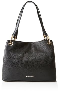 56b28661608b Michael Kors Raven Large Shoulder Tote, Black: Handbags: Amazon.com