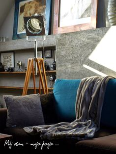 loft, industrial, lamp, tripod, salon, home decor