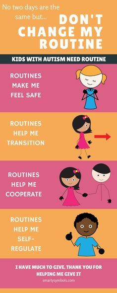 Children with autism need a routine! #autism