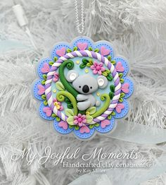 Handcrafted Polymer Clay Koala Bear Scene by MyJoyfulMoments