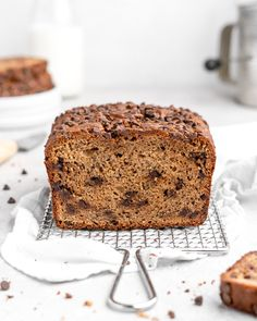 Soft, flavorful, and moist, this Tahini Chocolate Chip Banana Bread has just theright amount of nutty background flavor, thanks to the addition of tahini. Chocolate Chip Banana Bread, Mini Chocolate Chips, Sweet Peanuts, Banana Bread Recipes, Tahini, Baked Goods, Breads, Bread Food