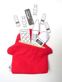 Kulturbeutel - Kramtäschchen ZYKLOP Mäppchen Monster Tasche - ein Designerstück von ambaZamba bei DaWanda