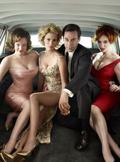 A Mad Men photo shoot with Elisabeth Moss, January Jones, Jon Hamm and  Christina Hendricks.