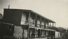 Two Story Adobe Coronado Hotel Building  Water Street, Santa Fe, New Mexico  ca 1914  Negative # 011392