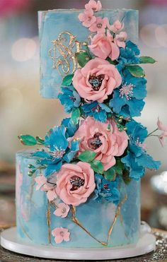 79 wedding cakes that are really pretty! 79 painted wedding cakes that are really pretty! Pretty Wedding Cakes, Floral Wedding Cakes, Unique Wedding Cakes, Unique Cakes, Floral Cake, Elegant Cakes, Beautiful Wedding Cakes, Gorgeous Cakes, Wedding Cake Designs