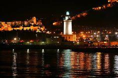 Buenas noches, een fijne avond! La Farola, de vuurtoren van #Málaga  Espaans, op leuke wijze #Spaans leren www.espaans.nl
