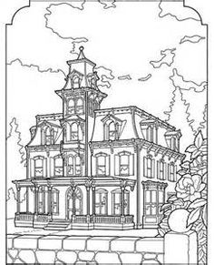 Printable coloring pages for adults/ Victorian Houses ...