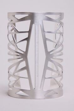 Cut Out Cuff | Geometric Silver Bracelet http://thriftedandmodern.com/cut-out-cuff-bracelet