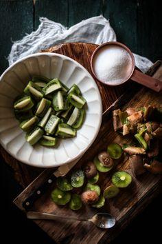 Kiwi Shrub, Toasted Coconut Simple Syrup, & A Tropical Cocktail