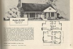 Vintage House Plans, 1950s houses, mid century homes