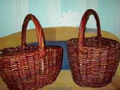 Плетение ручки для лукошка Paper Basket, Wicker Baskets, Vines, Decoupage, Weaving, Diy, Sweet, Hampers, Bears