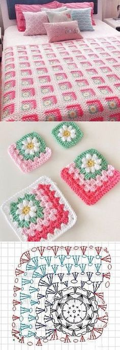Transcendent Crochet a Solid Granny Square Ideas. Wonderful Crochet a Solid Granny Square Ideas That You Would Love. Crochet Motifs, Crochet Blocks, Crochet Squares, Crochet Afghans, Crochet Blanket Patterns, Crochet Stitches, Free Crochet, Knit Crochet, Knitting Patterns