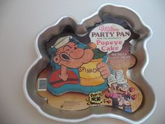 Vintage Popeye Wilton Cake Pan With Insert, 1980 Wilton Cake Pans, Cake Supplies, Baking Supplies, Cake Supply Shop, 2 Layer Cakes, Baking Pans, Cookie Cutters, Cake Decorating