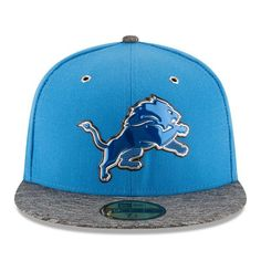 NFL New Era Detroit Lions Men s Blue Heathered Gray 2016 NFL Draft On Stage  59FIFTY Fitted Hat 0929f110e1b