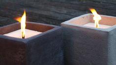 Recycelte Kerzen