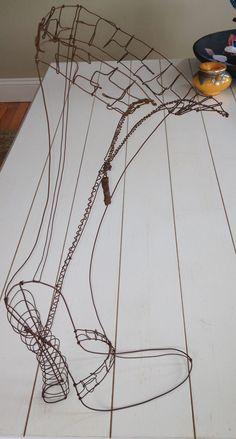 """""""Das Boot"""" wire sculpture 2008"""