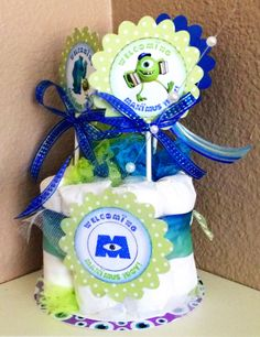 Baby Boy Shower, Baby Shower Gifts, Monsters Inc Baby Shower, Little Monsters, Diaper Cakes, Compliments, Sons, Party Ideas, Children