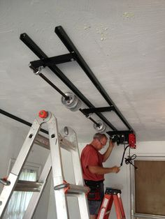 We Were In The Middle Of Installing The Garage Overhead Storage By Unique  Lift LLC For