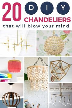DIY chandeliers are an amazing way to get exactly what you want without blowing your decor budget. These 20 DIY lighting tutorials are perfect for a dining room, bedroom, or living space makeover. You won't believe how simple it is to DIY your own lighting! #chandeliermakeover #easychandelier #howtomakeachandelier #chandeliertutorials #easyDIYchandelier #DIYchandelier #DIYlighting #DIYlightingfixtures #lighting #chandelier