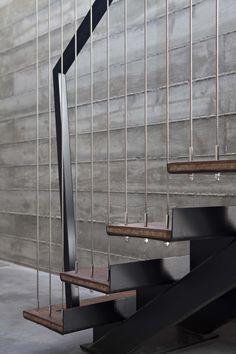 steel & wood exterior stair