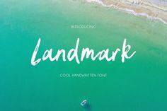 Landmark by Daria Bilberry on @creativemarket Handwritten Fonts, Script Fonts, Business Brochure, Business Card Logo, Business Flyer, Stationery Design, Invitation Design, Invitations, Branding Design