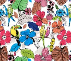 Gardens_in_Paradise fabric by chulabird on Spoonflower - custom fabric