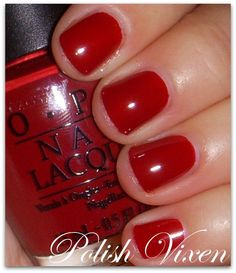 OPI Chick Flick Cherry- My go to hot-shot nail color.