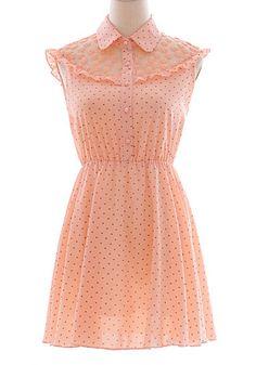 Polka dot pink dress...omg so cutiee & could wear it 2 school! <3