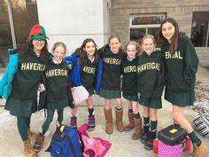Grade 6 students receive their Junior School Grad hoodies!