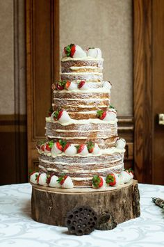 Rustic White Chocolate Wedding Cake / LUV this so unique!!!!