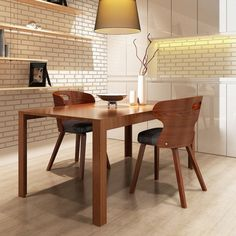 Set of 2 Modern Dining Chairs with Bentwood Backrest Fabric Dining Chairs, Modern Dining Chairs, Dining Table, Luxury Loft, Framing Materials, Luxury Furniture, The Ordinary, Wooden Frames, Contemporary Design