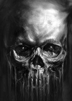"""Képtalálat a következőre: """"skull airbrush"""" Skull Artwork, Skull Painting, Arte Horror, Horror Art, Dark Fantasy Art, Dark Art, Badass Skulls, Totenkopf Tattoos, Skull Pictures"""