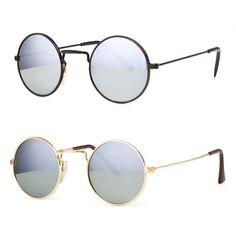 f377a60806 John Lennon Sunglasses Round Hippies Shades Revo Retro Vintage Small Mirror  Lens  Generic  Round