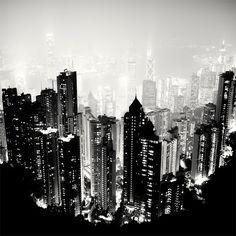 Incredibly Breathtaking Global Nightscapes // Hong Kong, 2009