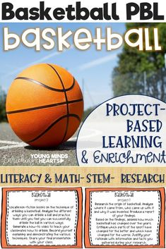 These Basketball themed project-based learning and enrichment projects put ownerhsip of learning into your student's hands and enrich your students through independent work study. Engage your classroom during your basketball unit with these ten printables
