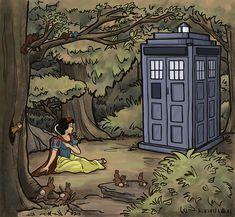 Snow White + Dr. Who