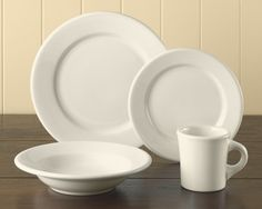 Buffalo China Dinnerware Place Settings #WilliamsSonoma - replacements for my chipped up dishes
