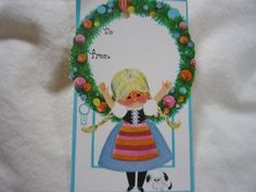 Gift tag from late 1960's---1970's