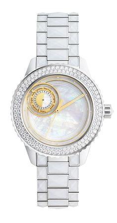 398dc93c274 DIOR Christal 8 watch with Mother-of-Pear Dial and Swarovski crystals bezel.