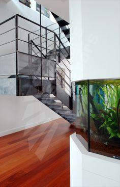 escalier m 233 tallique au design industriel photo dt37 esca droit 174 2 quartiers tournants avec