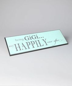 cbb075c3e2 Take a look at this Grandparent Gift Company Blue  GiGi  Wall Art on zulily  today!