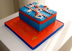 Sporty cake Swimming - Gateau D'anniversaire Sport Natation - Verjaardagstaart Sport                                                                                                                                                                                 Plus