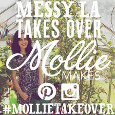 Join @messylablog for a #mollietakeover on Mollie Makes Pinterest and Instagram accounts on October 18-21.