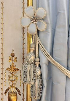 kittyinva:  tiny-librarian:  Detail of the Cabinet de la Méridienne, the little room Marie Antoinette went to rest in during the middle of the day. It was also where she would choose what she wore for the day, by sticking pins in her wardrobe books. A number of these pins, which had apparently fallen out or been dropped, were found under the floor during renovations done in the 1980s. Source  Kittyinva: Just beautiful.