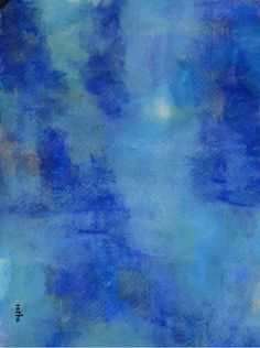 """Serie """"out of the blue""""8 Gouache in Passepartout 50x60"""