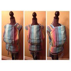 WCMT from Gira RR Azul, converted by Mama Bird Carriers Woven Wrap, Babywearing, Bird, Handmade, Crafts, Hand Made, Manualidades, Baby Wearing, Birds