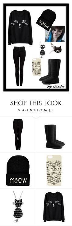"""""""Meoooww !! :3"""" by sandra-djf ❤ liked on Polyvore featuring Forever New, UGG Australia, Forever 21, Reeds Jewelers and Karl Lagerfeld"""